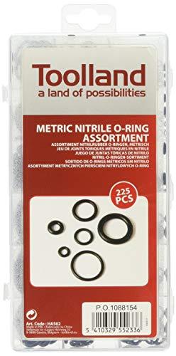 Perel HAS02 O Ring-Sortiment, metrisch, Nitrilkautschuk, 225-tlg.