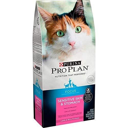 Purina Pro Plan Sensitive Stomach Dry Cat Food, Focus Sensitive Skin & Stomach Lamb & Rice Formula - 16 lb. Bag