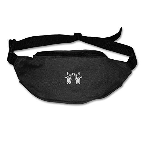 SWEET-YZ Unisex Waist Pack Dabbing French Bulldog Fanny Pack Travel Sport Waist Bag Belt Bags