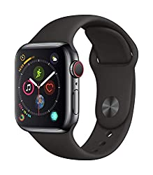 Apple Watch Series 4 (GPS + Cellular, 40mm) - Space Black Stainless Steel Case with Black Sport Band - apple watch that detects fall - Great recommendations for seniors, apple watch detects falls
