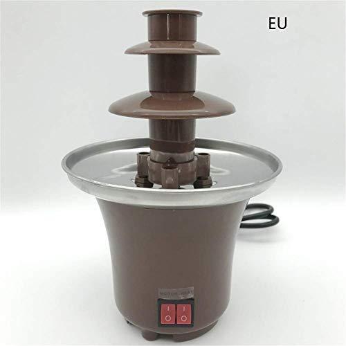 MiaZhou Mini Cioccolato Fontana Fonduta Pentola Cioccolato Fondente Macchina per Festa Bambini - EU Plug