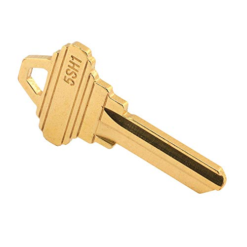 Prime-Line MP66750 SC1 Key Blank, Brass Construction, for 5-Pin Schlage C Keyways, Pack of 50
