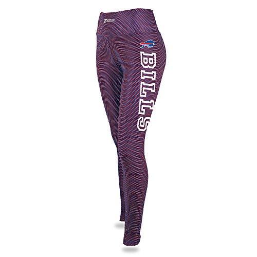 Zubaz NFL Buffalo Bills Women's Printed Mesh Leggings, Blue/Red, Medium