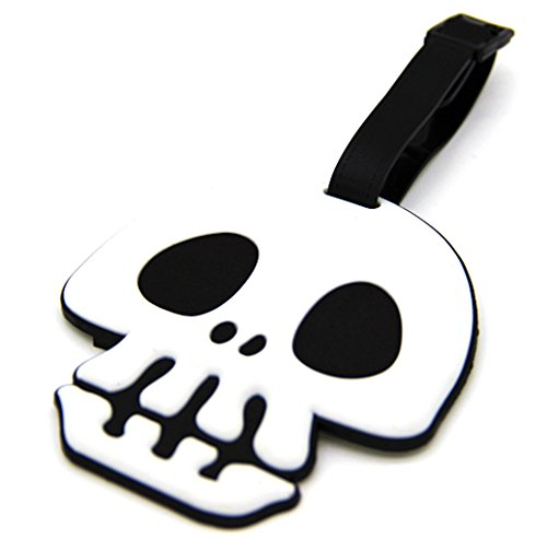 CellDesigns Punk Skull Luggage Tag Suitcase ID Tag with Adjustable Strap