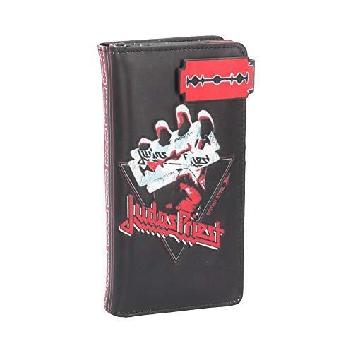 Nemesis Now Judas Priest British Steel - Borsa in poliuretano, 18,5 cm, colore: Nero