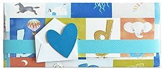 Porta soldi - bambino - primo compleanno - busta portasoldi (formato 22 x 9,5 cm) + biglietto d'auguri vuoto all'interno -...