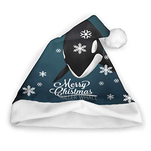 Killerwal unter dem Meer Vektor-Illustration Spaß Weihnachtsmützen Weihnachten Familienmützen Erwachsene Party Neujahr Weihnachten Tag Dekoration Weihnachtsmützen für Kinder Lustige Weihnachtsmützen