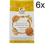 6x Vicenzi Fruttizie Mandarine, Kurkuma und Ingwer mit Vollkornmehl 175 g Kekse