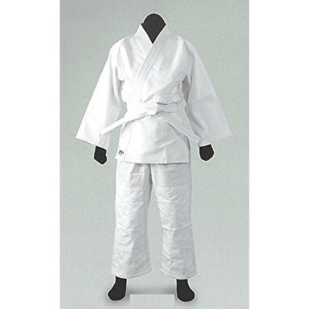 黒帯印 授業用柔道着 ホワイト 白帯付き Jー270 (4号)