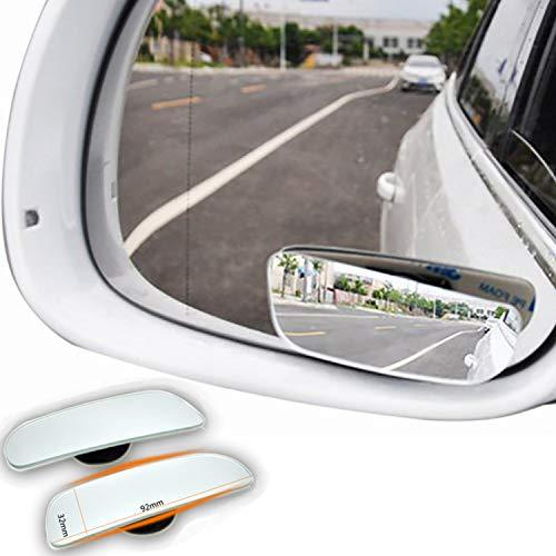 Echtglas Toterwinkelspiegel Auto,Seiten konvexen Spiegel Rearview 360 Weitwinkel Einstellbare, 2 Stücke
