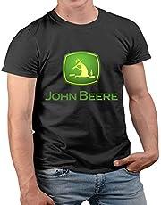 Nuts Shirts - John Beere Bier Tractor Fun rendier met alcohol heren T-shirt korte mouwen S-2XL