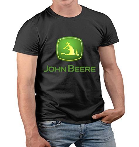 Nuts Shirts - John Beere Bier Traktor Fun Rentier mit Alkohol Herren Tshirt Prime Quality Kurzarm (Schwarz, 2XL)