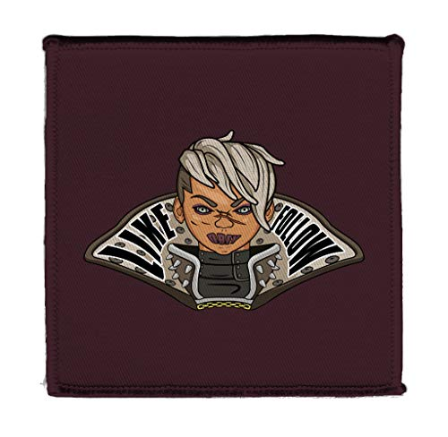 Hat Shark Bandit Cult Leader Queen Like Follow Obey Text Game Parody 4' X 4' Iron On Patch Applique (Queen)
