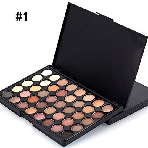 Coloré(TM) 40 couleurs ombre à paupières Shimmer Matte Glitter fards à paupières Eye maquillage ensemble poudre Ombre à paupières Maquillage Palette cosmétique scintillement ombre palettes (A)