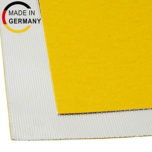 100x100cm Alu-Fiberglas Hitzeschutzmatte selbstklebend Isoliermatte Hitzeschutzfolie | 0,65mm