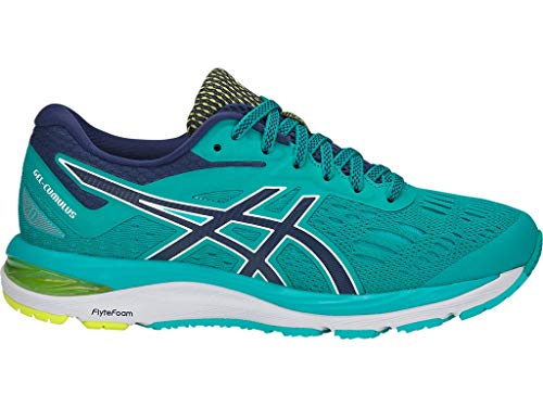 ASICS Women's Gel-Cumulus 20 Running Shoes, 7.5M, SEA Glass/Indigo Blue