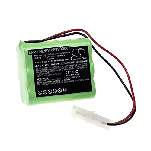 vhbw Batería Recargable Compatible con Burley Gas Fire Chimenea eléctrica (1500 mAh, 7,2 V, NiMH)