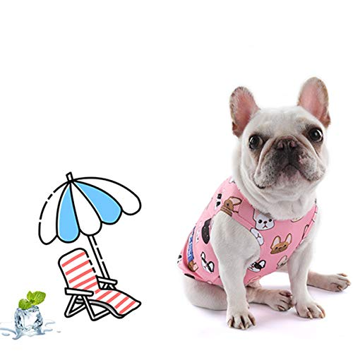 CT COUTUDI Cute Parttern Dog Cooling Vest Outdoor Puppy Cooler Shirt Sun-Proof Pet Vest with Water Bottle, Best for Small Medium Large Dogs