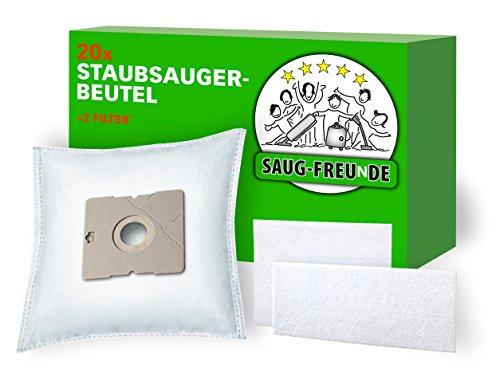 SAUG-FREUnDE I 20x Staubsaugerbeutel für AmazonBasics Bodenstaubsauger mit Beutel, 1,5L, Model No. VCB35B15C-1J7W-70, ASIN B07C3N686Y