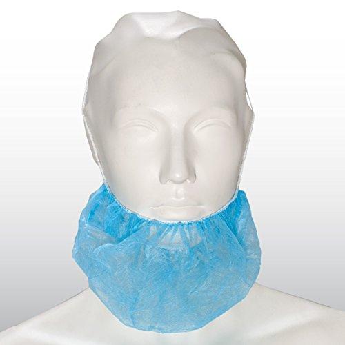 100 Bartbinden, blau, 50 x 30 cm - Bartschutz Bartmaske Einwegbartschutz - von BICAP