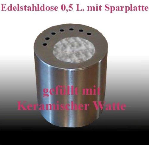 Cheminées Allemande 1 de carburant en acier inoxydable peut à économie d'énergie disque 0,5 litre et de la laine de céramique