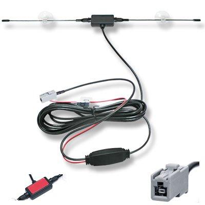 吸盤付ダイポール型 GT13端子 TVアンテナ 強力ブースター 配線約295cm ワンセグ/フルセグ 12Vの電源を使用しますので安定した映像が供給