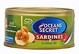 Oceans Secret - Canned Sardines in Olive Oil, 180g (Pack of 4)