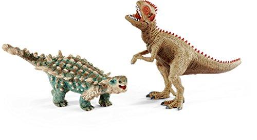 Schleich 41426 - Spielzeugfigur, Saichania und Giganotosaurus, klein