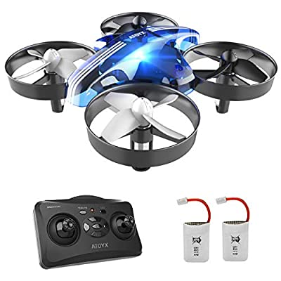 Drones for Kids - Mini Drones for Kids RC Drone, Equipped with 2.4Ghz 4CH 6-Axis Gyro , 3D Flip, 3 Speed, LED Lights, Suitable for Boys, Girls, Teens, Adults and Beginners, Blue