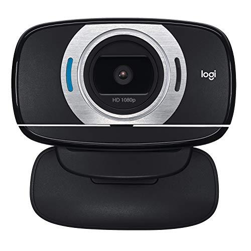 Logitech C615 Webcam Portable, Full HD 1080p/30ips, Appel Vidéo HD Grand Format, Pliable, Correction HD, Mise au Point Automatique, Skype, FaceTime, Hangouts, PC/Mac/Portable/Macbook/Tablette - Noir