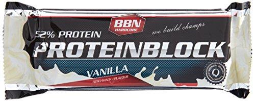 BBN Hardcore Protein Block Riegel, Vanille, 15 Stück