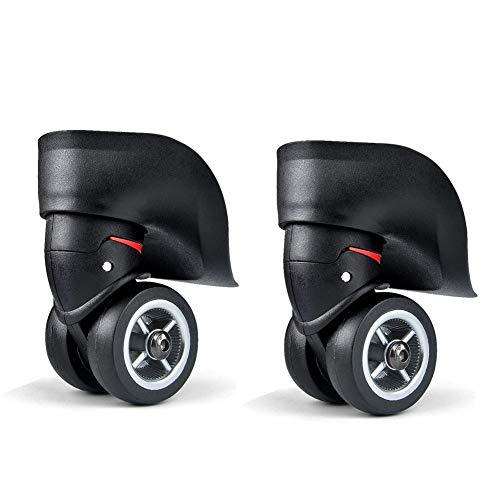 Bagage koffer wielen vervanging, links en rechts, koffer wielen vervanging accessoires, bagage koffer, Trolley case 360° draaibare wielen zwarte wielen OD 49mm Pack van 2