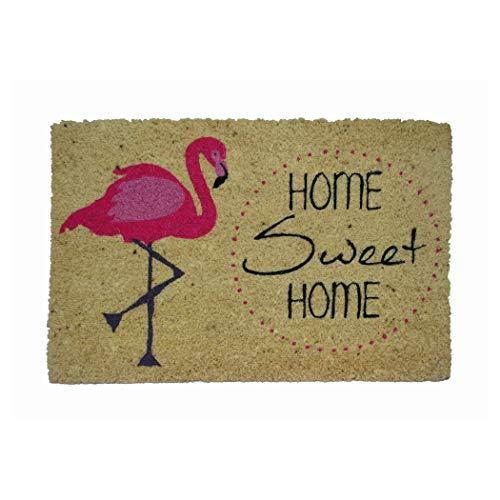 Koko Dormats Felpudo para Entrada de Casa Original, Flamenco, Fibra de Coco y PVC, 40x60cm