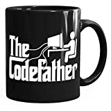 MoonWorks Kaffee-Tasse The Codefather Programmierer IT Informatiker Coder Geschenk-Tasse schwarz...