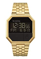 RE-RUN, GOLD/BLACK. A nostalgic-inspired 80s Nixon design, the gold and black 38.5mm Re-Run is an all-digital allstar smart watch that combines a digital face with a jewelry style band. CALCULATOR SMARTS. Reminiscent of an old calculator, the Re-Run ...