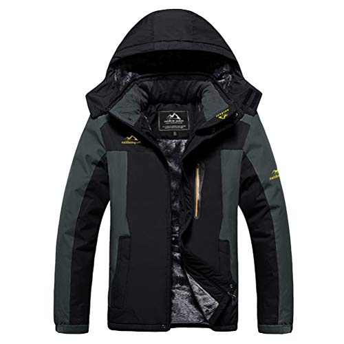 MAGCOMSEN Ski Jackets for Men Waterproof Jacket Fleece Lined Jacket Hoodies for Men Winter Coats for Men Hiking Camping Jacket Snow Jacket Rain Jackets