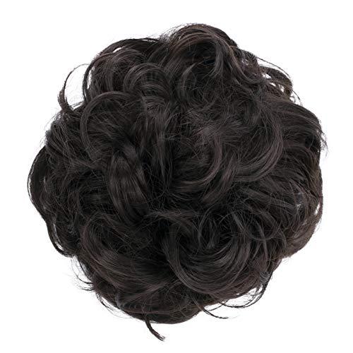 PRETTYSHOP Haarteil Haargummi Hochsteckfrisuren Brautfrisuren Voluminös Gelockt Unordentlich Dutt Dunkelbraun G2A