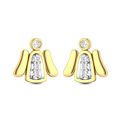 0.22 Carats White Diamond Stud Earrings Solid 14k Yellow Gold Certified Diamond Earrings For Women Anniversary Wedding Gift For Her