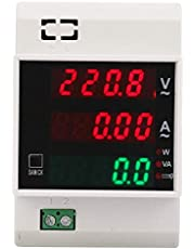 Strömmätare, digital energimätare, multifunktionell DIN-skena LED aktiv effektfaktor