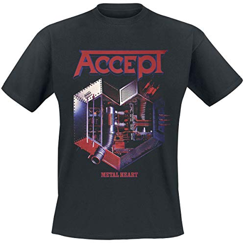 Accept Metal Heart Camiseta Negro S