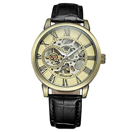 Reloj, reloj de pulsera ahuecado Movimiento mecánico cómodo y duradero Momento preciso y exacto de sustitución del reloj para embellecimiento