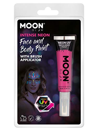 Smiffys Moon Glow Intense Neon UV Face Paint Hot Pink