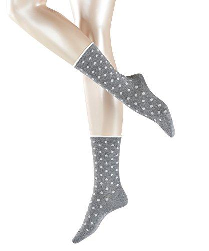 ESPRIT Damen Socken Melange Dot - Baumwollmischung, 1 Paar, Grau (Light Grey Melange 3390), Größe: 39-42