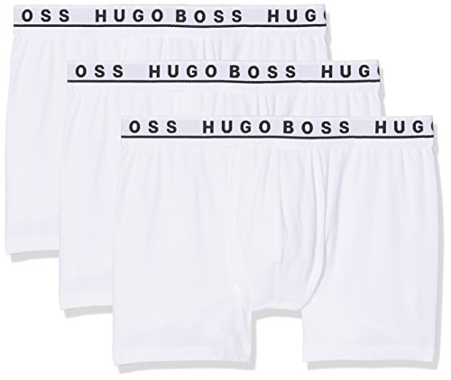 BOSS Herren Boxer Brief CO/EL Boxershorts, Bianco (White 100), XX-Large (3er Pack)