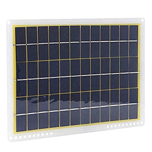 ZTSHBK Montaje de módulo fotovoltaico de Placa de Panel de energía Solar de 10W 18V IP65 a Prueba de Agua para Viajes al Aire Libre Camping