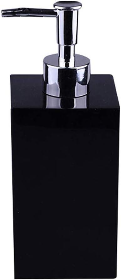 QTBH Dispensador de jabón Loción de Gama Alta Dispensador de jabón Familia de Hotel Champú Ducha Gel Caja Detergente Botella 500ML Liquid Soap Dispenser (Color : Black)