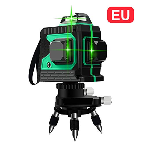 3D Nivel de Láser 12 Línea Luz verde de Alta Precisión Instrumento de Fijación...
