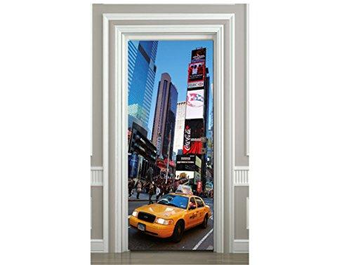 Sticker Porte New York Taxi Times Square - SAPP7091 (93x204cm)