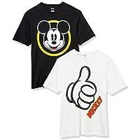 2-Pack Amazon Essentials Men's Disney Mickey Crew-Neck T-Shirts
