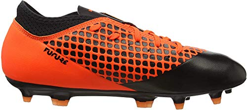 Puma Unisex-Kinder Future 2.4 FG/AG JR Fußballschuhe, Schwarz Black-Shocking Orange 02, 37 EU
